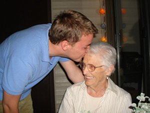 Me and my grandmother. Summer 2007.