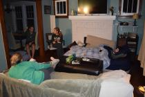 Our giant Thanksgiving sleepover.