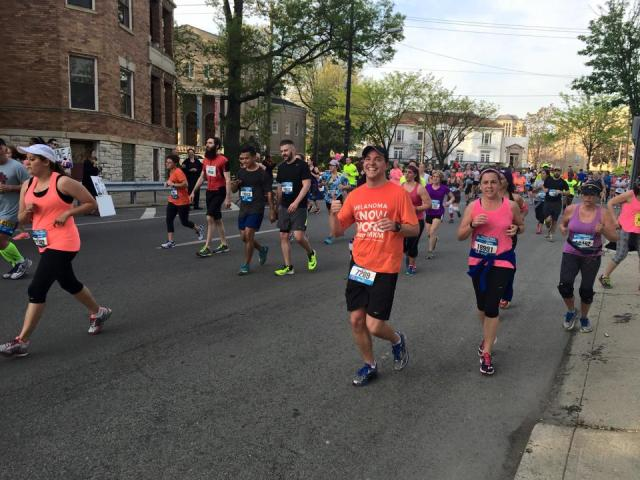 Running the Cincinnati Flying Pig Half Marathon. Around mile 8.